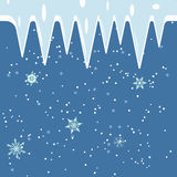 Winter frosty ice and snow background in vector. Snow, icecle, ice, winter, background, snowing, kar tanesi, notification, holiday, greeting, christmas Royalty Free Stock Photos