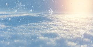 Winter snow background, blue color, snowflakes, Winter snow background, blue color, snowflakes, sunlight, macro. Winter frosty morning. Winter snow background stock photos