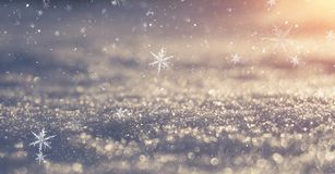 Winter snow background, blue color, snowflakes, Winter snow background, blue color, snowflakes, sunlight, macro. Winter frosty morning. Winter snow background royalty free stock images