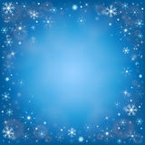 Winter frosty snow background stock images