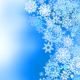 Winter frozen background with snowflakes.  Royalty Free Stock Photos