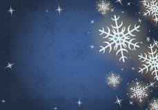 Winter frozen background with snowflakes, vector. Stock Photos