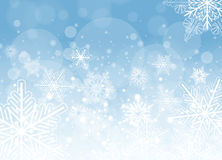 Winter frozen background. With snowflakes, vector christmas illustration Royalty Free Stock Photos