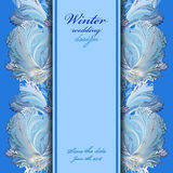 Winter frozen glass design background. Text place. Royalty Free Stock Images