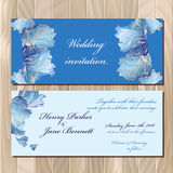 Winter frozen glass design invitation card. Wedding Vector illustration Royalty Free Stock Photo