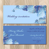 Winter frozen glass design invitation card. Wedding Vector illustration Royalty Free Stock Image