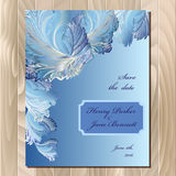 Winter frozen glass design wedding card. Vector background illustration. Stock Image