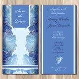 Winter frozen glass design. Wedding invitation card. Vector illustration Stock Photo
