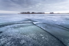 Winter frozen lake Royalty Free Stock Photography