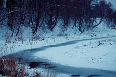 Winter.Frozen river snow. Winter.Frozen river cool outdoors cool Royalty Free Stock Image
