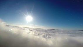 Winter frozen Sea Landscape stock video