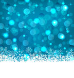 Winter frozen snowflakes background with copy space for your tex Stock Photo