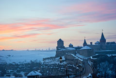 Winter frozen sunrise Royalty Free Stock Photography