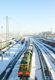 Winter frozen wagons under snow Royalty Free Stock Image
