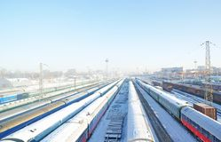 Winter frozen wagons under snow Royalty Free Stock Photo