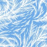 Winter frozen window seamless pattern. Ornament of ice crystals on the glass Stock Illustration