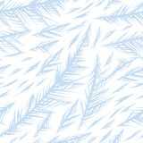 Winter frozen window seamless pattern. Ornament of ice crystals on the glass Vector Illustration