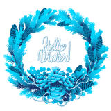 Winter frozen wreath Royalty Free Stock Photography
