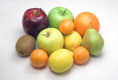 Winter fruits. Several winter fruits stock photos