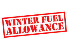 WINTER FUEL ALLOWANCE. Red Rubber Stamp over a white background Royalty Free Stock Images
