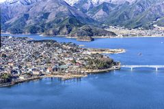 Winter Fujiyoshida City Yamanashi and Kawaguchigo lake japan Royalty Free Stock Photos