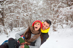 Winter fun stock image