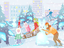 Winter fun Royalty Free Stock Photography