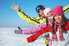 Winter fun Stock Images