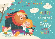Free Winter Fun. Happy Family At Winter Vacation Royalty Free Stock Images - 130798959