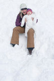 Winter Fun: Mother and Son Stock Photography