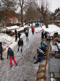 Winter fun in the Netherlands Royalty Free Stock Photography