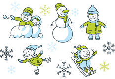 Winter Fun Set Royalty Free Stock Photo