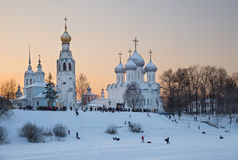 Winter fun in Vologda Stock Images