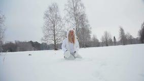 Winter fun. stock video footage