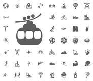 Winter funicular icon. Sport illustration vector set icons. Set of 48 sport icons. Winter funicular icon. Sport illustration vector set icons. Set of 48 sport royalty free illustration