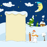 Winter funny illustration Royalty Free Stock Photography
