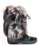 Winter fur boots Royalty Free Stock Image
