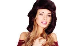 Winter Fur Fashion Royalty Free Stock Photography