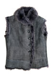 Winter fur vest Royalty Free Stock Photos
