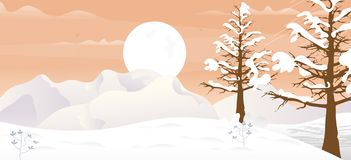 Winter Game Background stock illustration