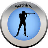 Winter game button biathlon Stock Photo