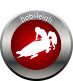 Winter game button Bobsleigh Stock Images