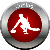 Winter game button curling Stock Photography