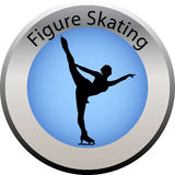 Winter game button figure skating. Illustration f a winter game button figure skating Royalty Free Stock Photography