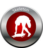 Winter game button skeleton Royalty Free Stock Image