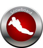 Winter game button snowboard Royalty Free Stock Photography
