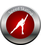 Winter game button speed skating Stock Images