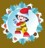 Winter game Stock Image