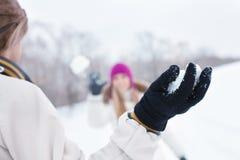 Winter game Stock Photo