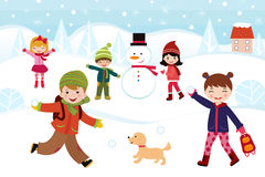 Winter games Stock Photography